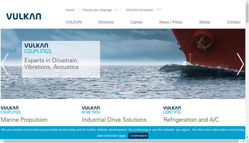 Capture d'écran du site de Vulkan France SARL