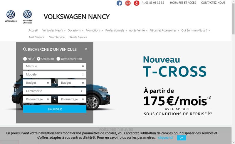 Capture d'écran du site de Quattromotors Nancy Automotors Nancy