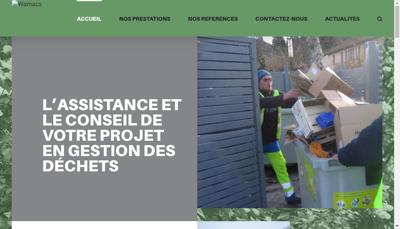 Capture d'écran du site de Wamaco