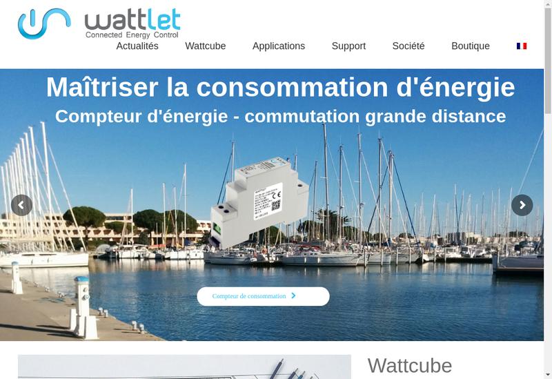 Capture d'écran du site de Wattlet
