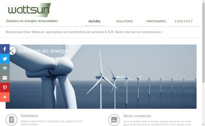 Site internet de Wattsun