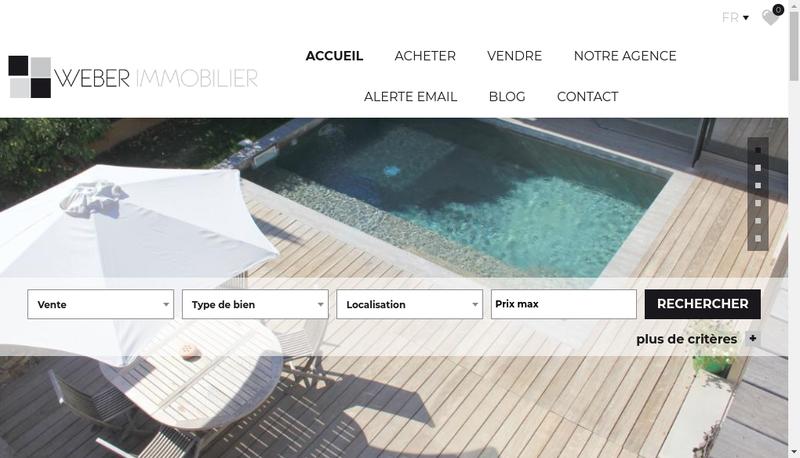 Capture d'écran du site de Weber Immobilier