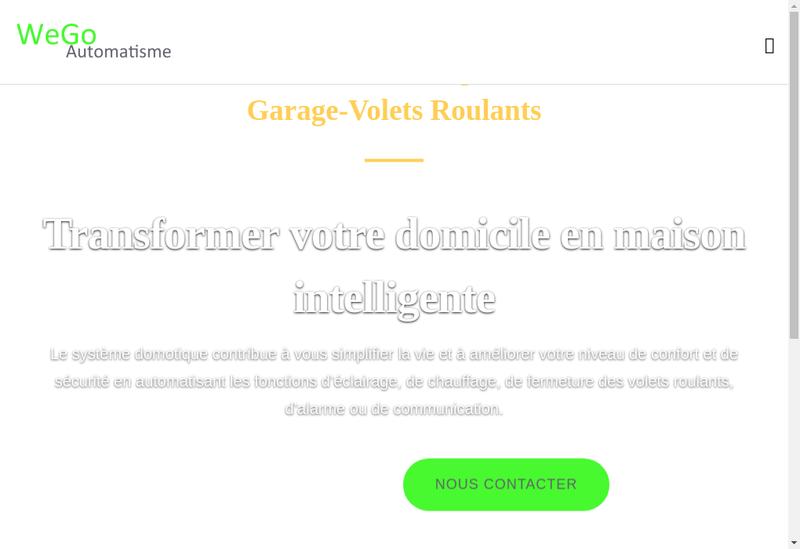 Site internet de Wego Automatisme