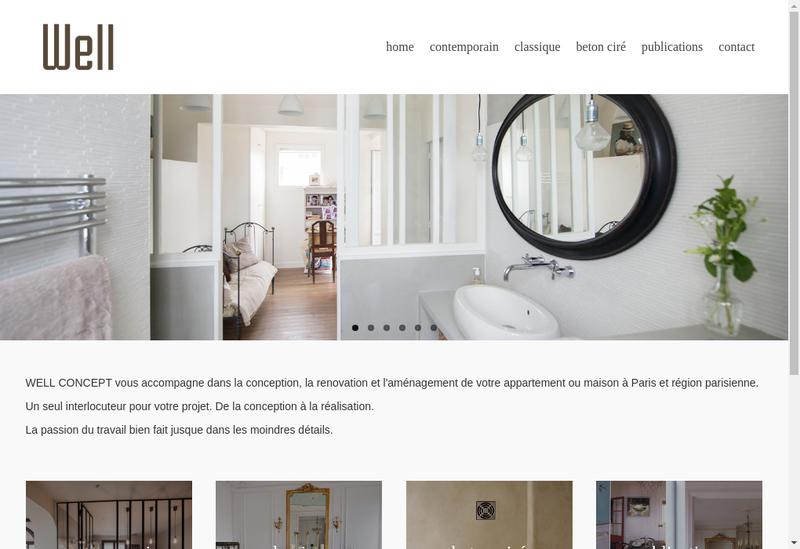 Capture d'écran du site de LL Concept