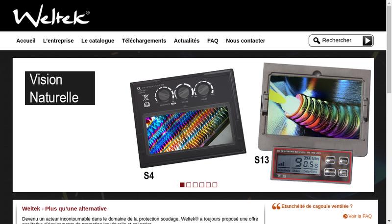 Capture d'écran du site de Weltek