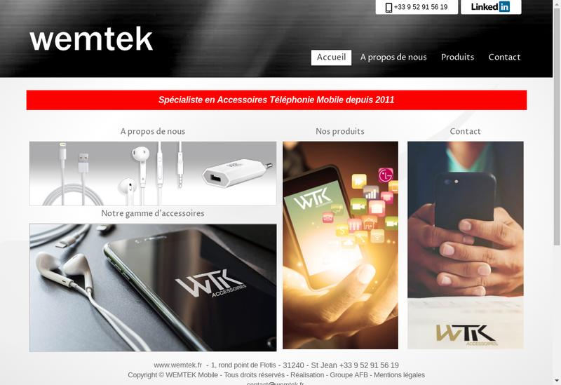 Capture d'écran du site de Elegance Mobile