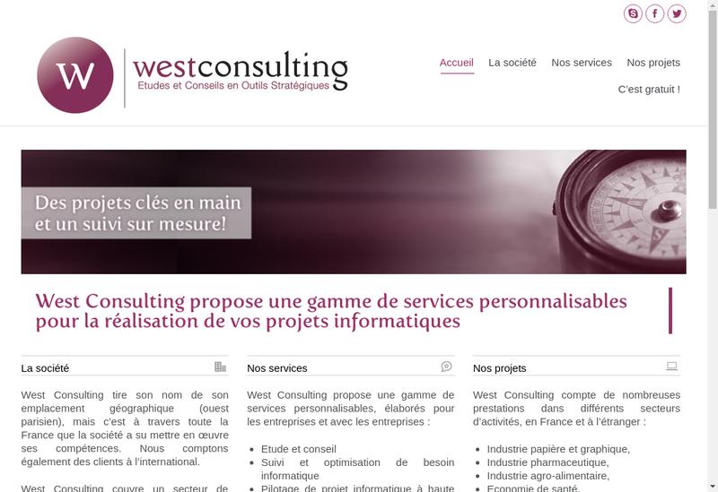 Capture d'écran du site de West Consulting