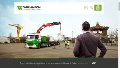 Site internet de Williamson Transports