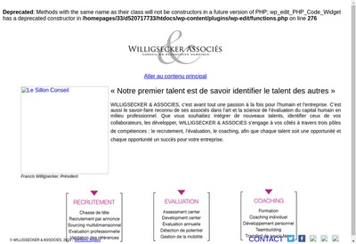 Site internet de Willigsecker & Associes