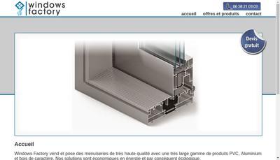 Site internet de Windows Factory