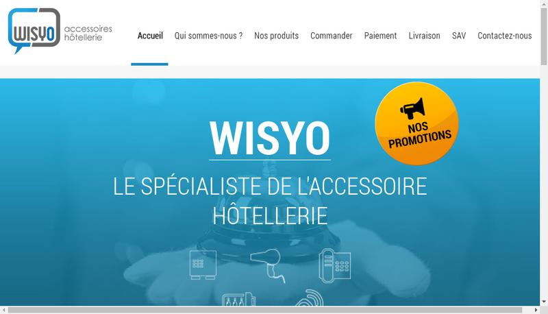Capture d'écran du site de Wisyo