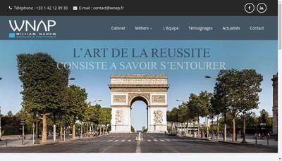 Site internet de SAS William Nahum Associes et Partenaires