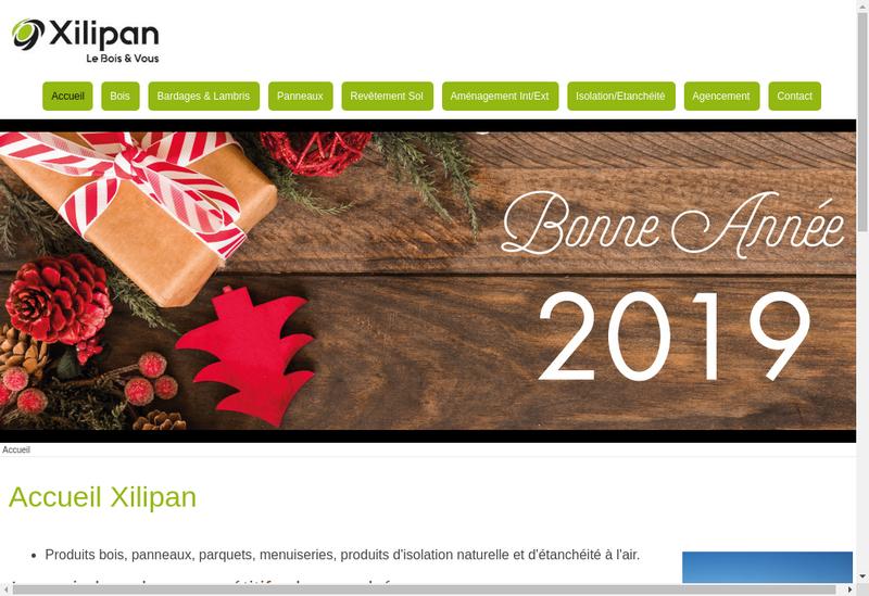 Capture d'écran du site de Xilipan