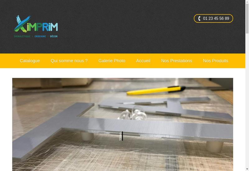 Capture d'écran du site de Ximprim