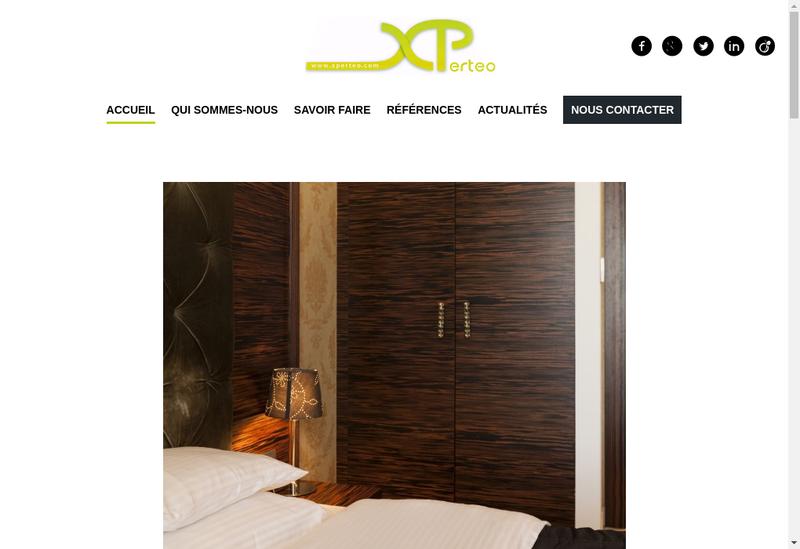 Capture d'écran du site de Xperteo