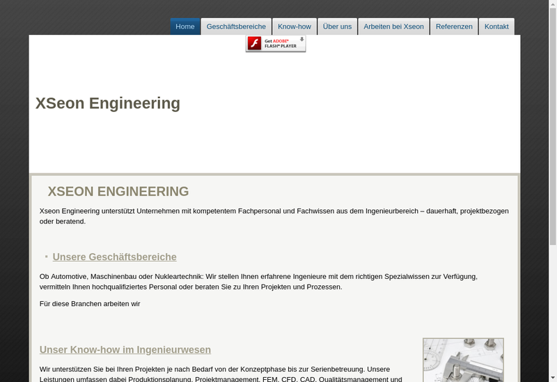Site internet de Xs Groupe - Xseon