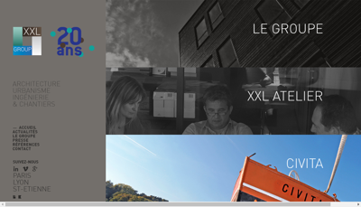 Capture d'écran du site de Civita