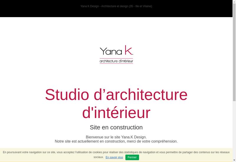 Capture d'écran du site de Yana K