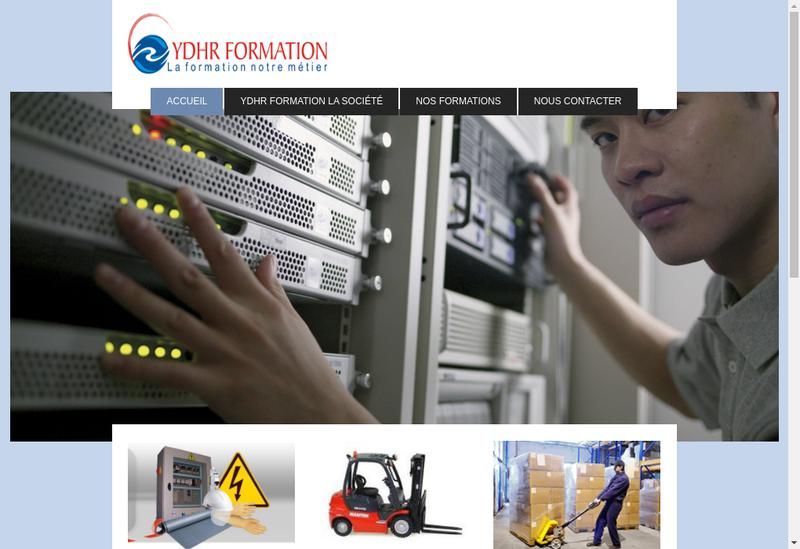Capture d'écran du site de Ydhr Formation