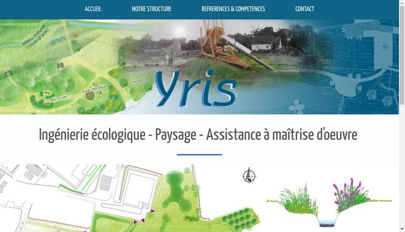 Capture d'écran du site de YRIS