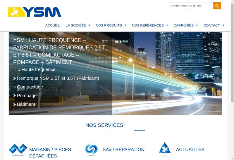 Capture d'écran du site de Ysm Ceme Ace