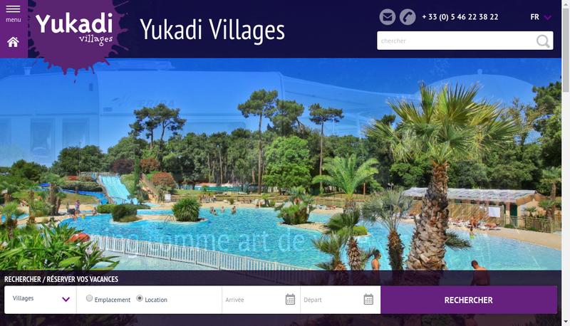 Capture d'écran du site de Yukadi Villages