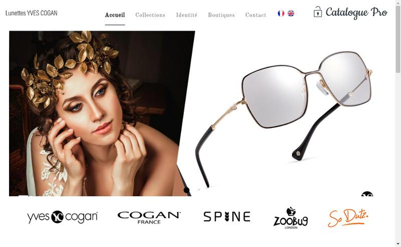 Capture d'écran du site de Lunettes Yves Cogan