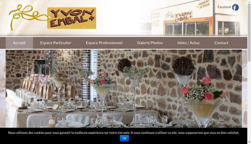 Capture d'écran du site de Yvon Embal+