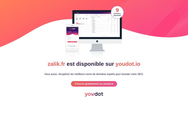 Capture d'écran du site de SARL Zalik