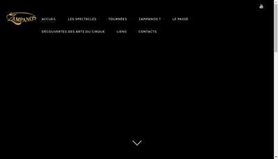 Capture d'écran du site de Zampanos