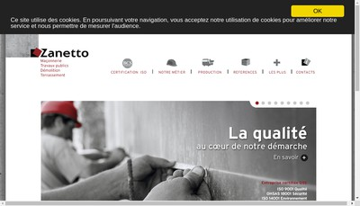 Site internet de Zanetto SAS