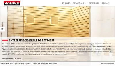 Site internet de Societe Zanier