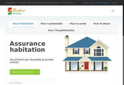 Capture d'écran du site de Zaphir Assurances