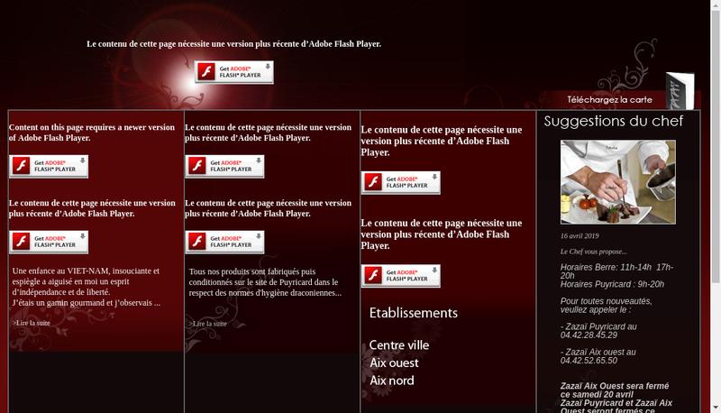Capture d'écran du site de SARL Zazai