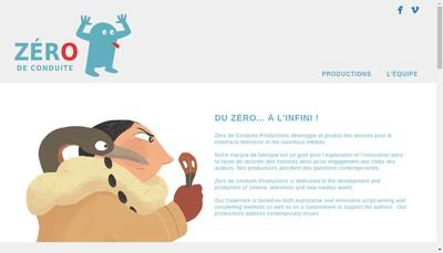 Site internet de Zero de Conduite Productions
