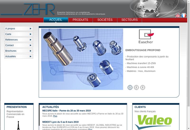 Capture d'écran du site de ZEHR