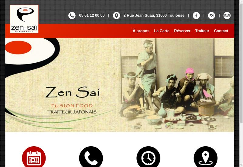 Capture d'écran du site de Zen Sai