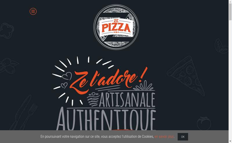 Capture d'écran du site de Crousti'Pizzas - Ze Pizza