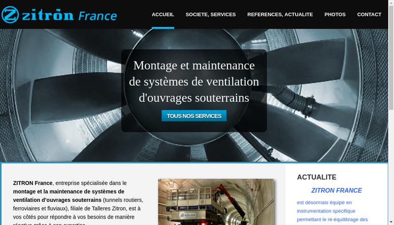 Capture d'écran du site de Zitron France