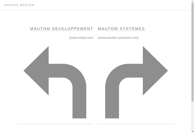 Capture d'écran du site de Mautom