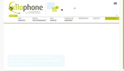 Capture d'écran du site de Xilophone