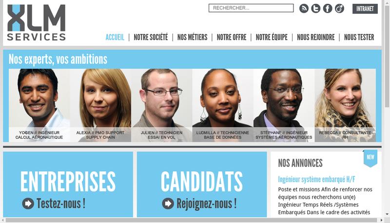 Capture d'écran du site de Xlm Services