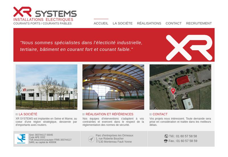 Capture d'écran du site de R Systems