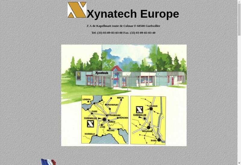 Capture d'écran du site de Xynatech Europe