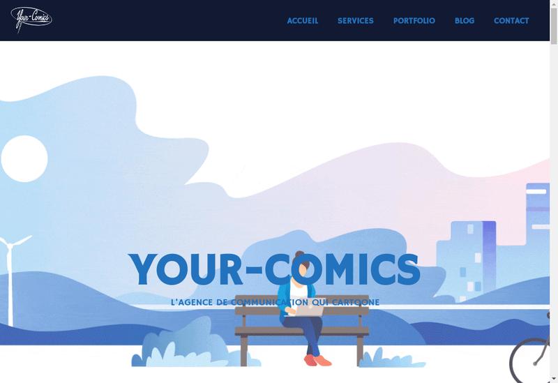 Capture d'écran du site de Your Comics