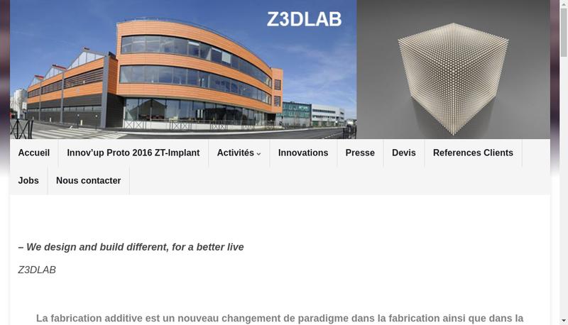 Capture d'écran du site de Z3Dlab