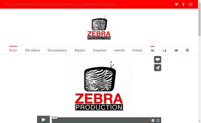Site internet de Zebra Production