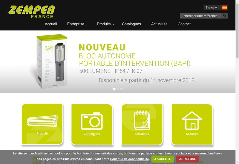 Capture d'écran du site de Zemper France